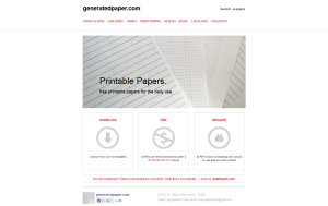 choose from over 40 templates — generatedpaper.com- free printable papers for the daily use