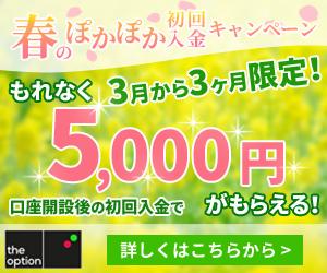 ザオプション春の入金キャンペーン